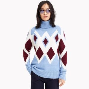 NWT J Crew Oversized Turtleneck Sweater Soft Yarn